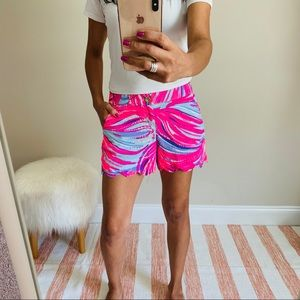 Lilly Pulitzer scalloped shorts